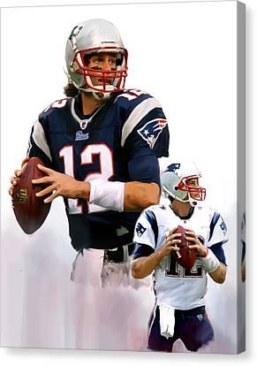 Brady II  Tom Brady Canvas Print