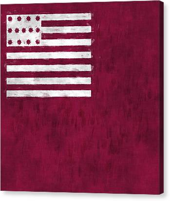 Brandywine Flag Canvas Print by World Art Prints And Designs