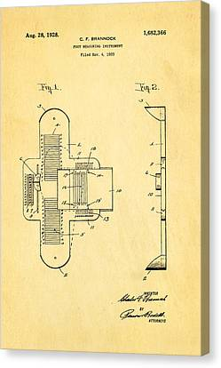 Quilter Canvas Print - Brannock Shoe Fitting Patent Art 1928 by Ian Monk