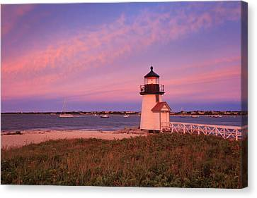 Brant Point Lighthouse Sunset Canvas Print