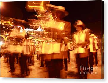 Brass Band At Night Canvas Print by James Brunker