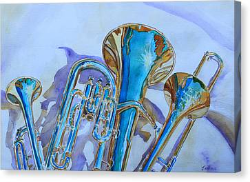Trio Canvas Print - Brass Candy Trio by Jenny Armitage