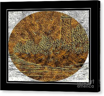 Brass Etching - Oval - Lighthouse Canvas Print