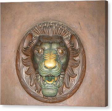 Brass Lion Canvas Print by Maura Satchell