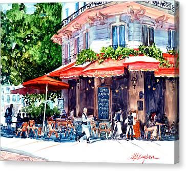 Brasserie Isle St. Louis Canvas Print