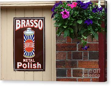 Vintage Brasso Polish Advert Canvas Print by James Brunker