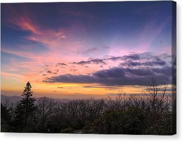 Brasstown Bald Sunset Canvas Print by Debra and Dave Vanderlaan