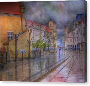 Bratislava Downtown Canvas Print by Juli Scalzi