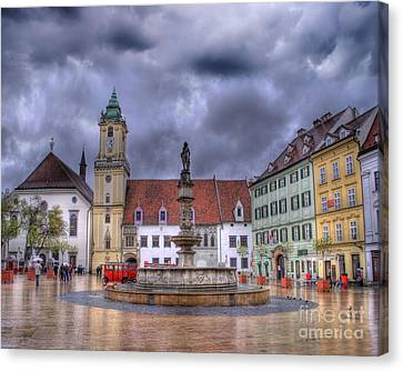 Bratislava Old Town Hall Canvas Print by Juli Scalzi