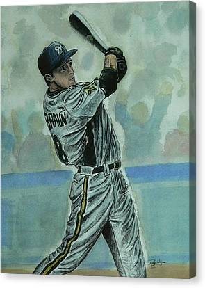 Canvas Print featuring the painting Braun by Dan Wagner