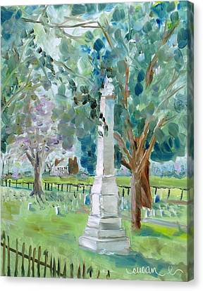 Carnton Plantation Canvas Print - Brave And Noble by Susan Elizabeth Jones