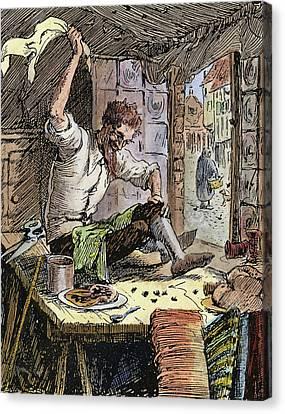 Brave Little Tailor, 1891 Canvas Print by Granger