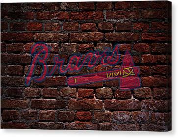 Centerfield Canvas Print - Braves Baseball Graffiti On Brick  by Movie Poster Prints