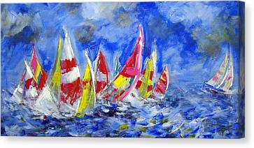 Braving The Heavy Winds Canvas Print by Walter Fahmy