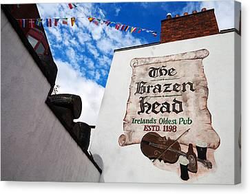 Brazen Head Pub Sign, Bridge Street Canvas Print by Panoramic Images