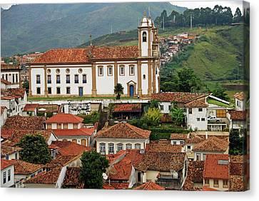 Brazil, Minas Gerais, Ouro Preto, View Canvas Print by Anthony Asael