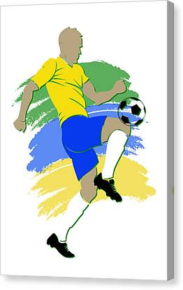 Brazil Soccer Player Canvas Print by Joe Hamilton