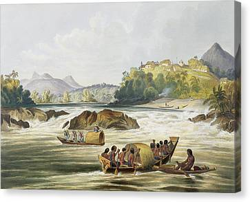 Brazilian Fort St. Gabriel On The Rio Canvas Print by Charles Bentley