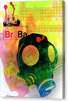 Brba Watercolor Canvas Print by Naxart Studio