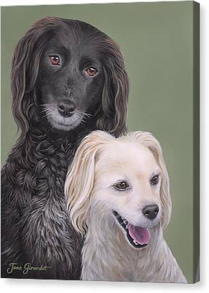 Canvas Print featuring the painting Brea And Randy by Jane Girardot