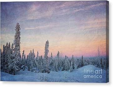 Break Of Dawn Canvas Print by Priska Wettstein
