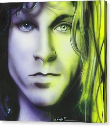 Jim Morrison - ' Break On Through To Lithium ' Canvas Print by Christian Chapman Art