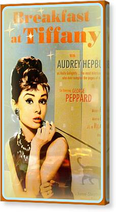 Breakfast At Tiffany Canvas Print by The Creative Minds Art and Photography