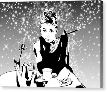Breakfast At Tiffany's Bw Canvas Print by Ryan Burton