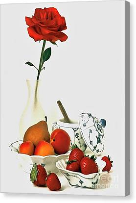 Canvas Print featuring the photograph Breakfast For Lovers by Elf Evans