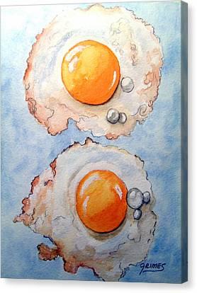 Breakfast Is Ready Canvas Print by Carol Grimes