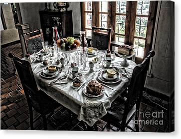 Downton Abbey Breakfast Canvas Print by The Art of Alice Terrill