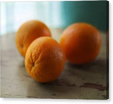 Breakfast Oranges Canvas Print by Amy Tyler