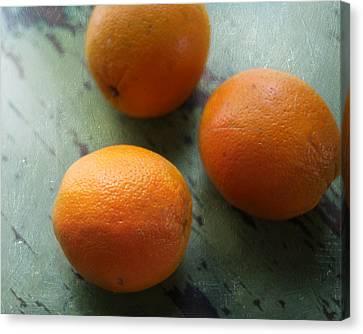 Breakfast Oranges II Canvas Print by Amy Tyler