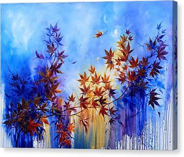 Wind Blown Tree Canvas Print - Breaking Away by Hanne Lore Koehler