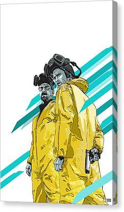 Illustration Canvas Print - Breaking Bad by Jeremy Scott