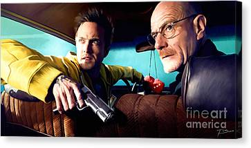 Shower Canvas Print - Breaking Bad by Paul Tagliamonte