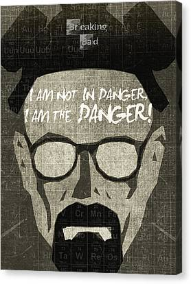 Breaking Bad Walter White Poster Canvas Print by Albert Lewis