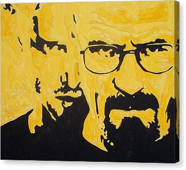 Breaking Bad Yellow Canvas Print