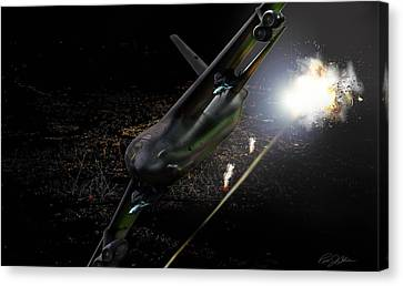 Breaking Baghdad Canvas Print by Peter Chilelli