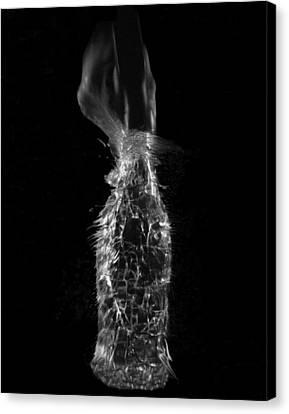 Breaking Glass Canvas Print by Alfredo Martinez