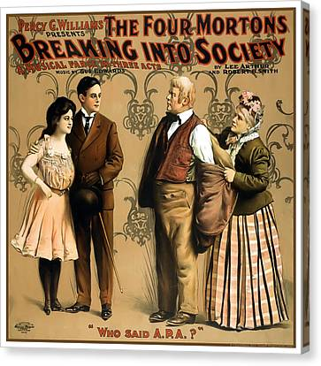 Breaking Into Society Canvas Print by Terry Reynoldson