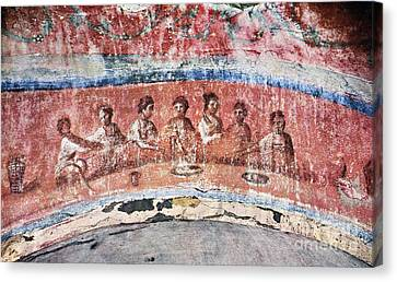 Last Supper Canvas Print - Breaking Of Bread by Granger