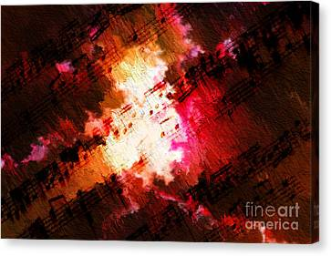 Canvas Print featuring the digital art Breaking Through by Lon Chaffin