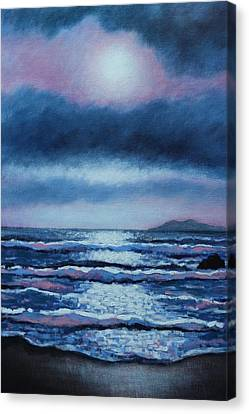 Breaking Waves Coumeenole Beach  Canvas Print by John  Nolan