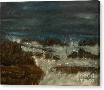 Breaking Waves Canvas Print by Nicla Rossini