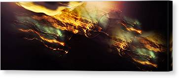 Breakthrough. Empowered By Light Canvas Print by Jenny Rainbow