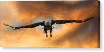 Eagle In Flight Canvas Print - Breakthrough by Jai Johnson