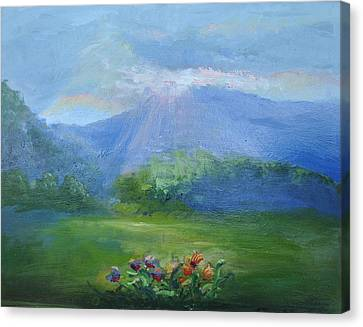 Breakthrough Light Canvas Print by Patricia Kimsey Bollinger