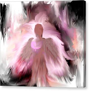 Breast Cancer Angel Canvas Print by Jessica Wright
