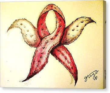 Breast Cancer Awareness Starfish Canvas Print by Jose A Gonzalez Jr